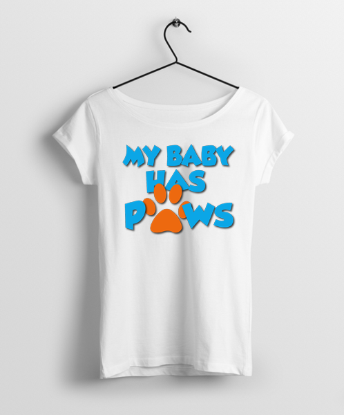 My Baby Had Four Paws Women Round Neck T-Shirt