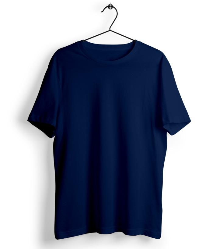 Solid Navy Blue T-Shirt - Almytees