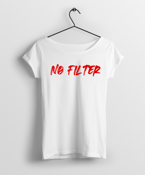 No Filter Women Round Neck T-Shirt