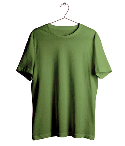 Solid Olive Green T-Shirt - Almytees