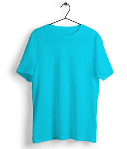 Solid Sky Blue T-Shirt