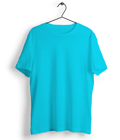 Solid Sky Blue T-Shirt - Almytees