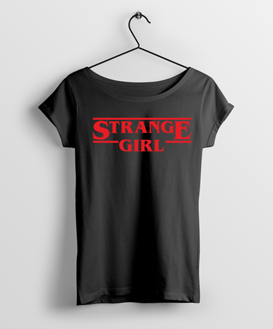Strange Girl Women Round Neck Tshirt