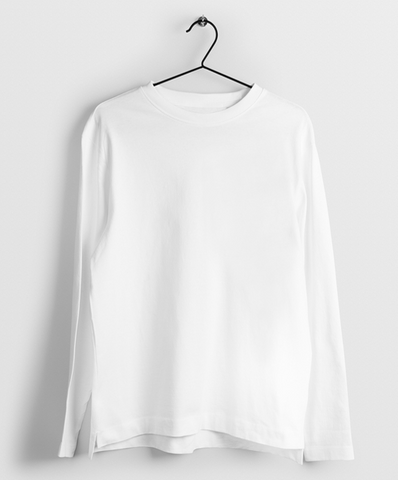Full Sleeve White T- Shirt - Almytees