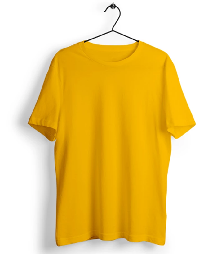 Solid Golden Yellow T-shirt - Almytees