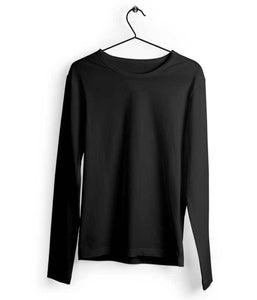 Full Sleeve Black T-Shirt - Almytees