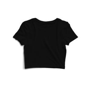 Solid Crop Top Black - Almytees