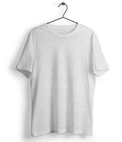 Solid Melange Grey T-Shirt