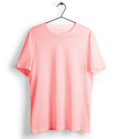 Solid Light Pink T-Shirt - Almytees