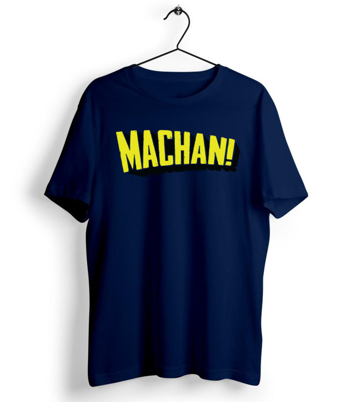 Machan Navy Blue T-Shirt Tshirt - Almytees