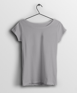 Melange Grey Women T-Shirt