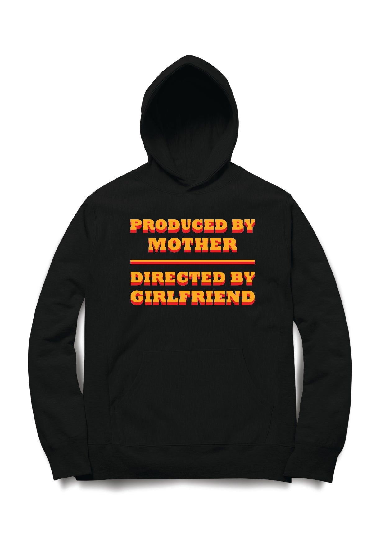 PRODUCED BY MOTHER DIRECTED BY GIRLFRIEND  HOODIE - Almytees
