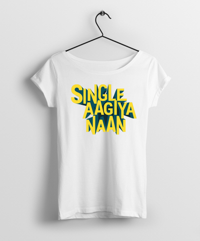 Single Aagiya Naan Women Round Neck T-Shirt - Almytees