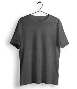 Charcoal Grey Solid T-Shirt - Almytees