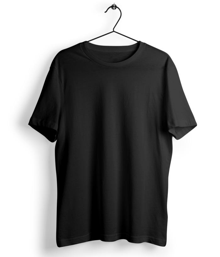 Solid Black T-Shirt - Almytees