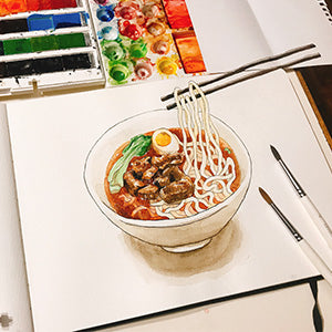 Tastes of Taiwanese Culture . Taiwan Delicacy Illustration Class