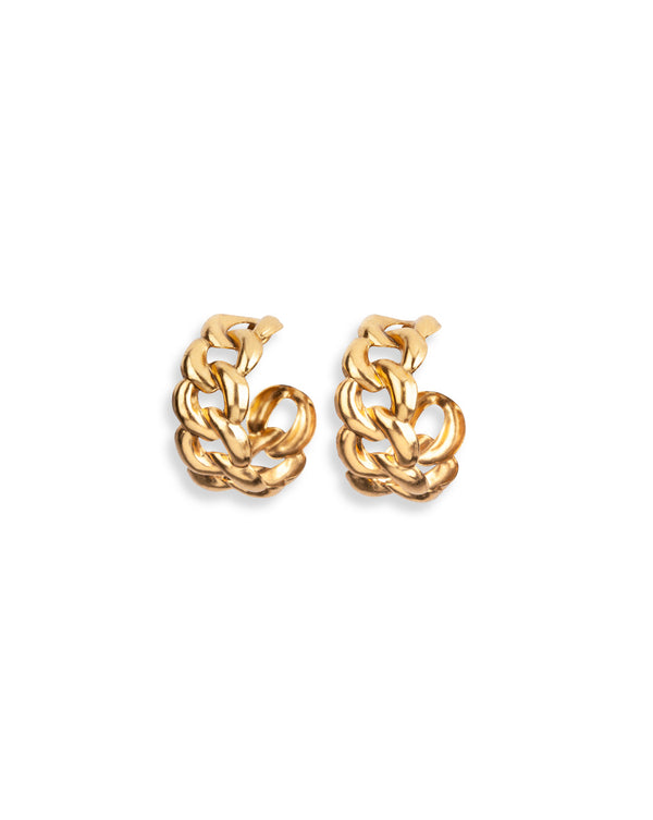 Tara Gold Hoop Earrings - Gold