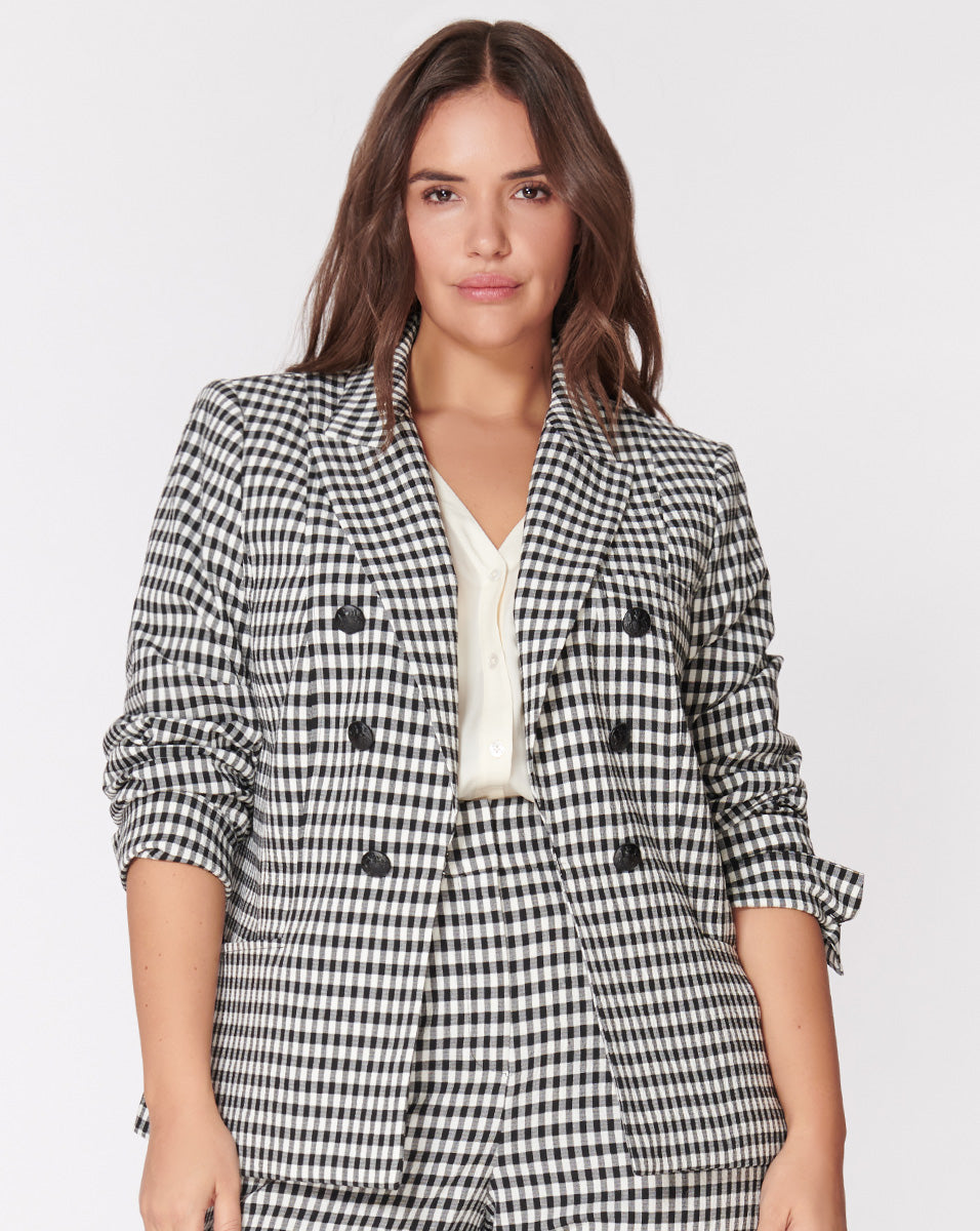 Caldwell Dickey Jacket - Black-White