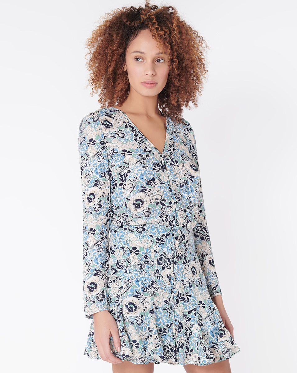 Riggins Dress - Blue-Multi
