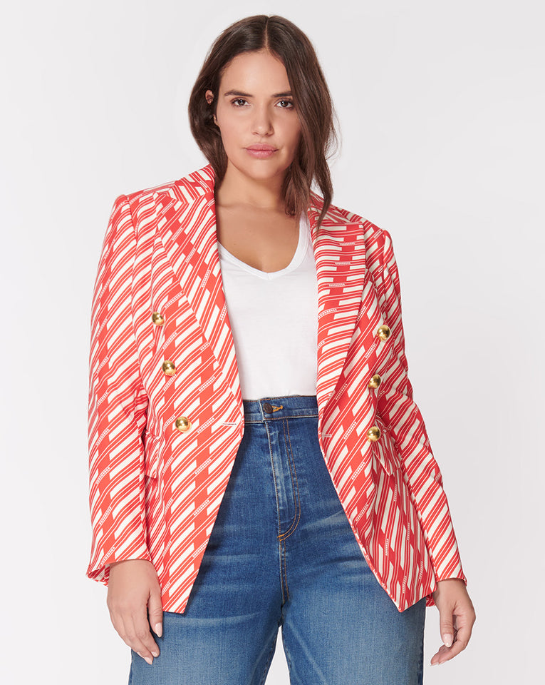 Miller Dickey Jacket - Red-White