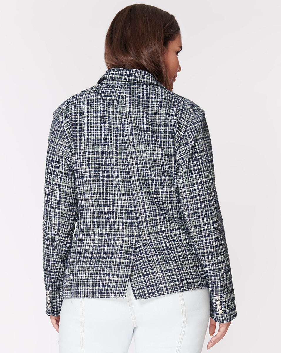 Cutaway Dickey Jacket - Navy-Multi