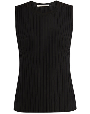 Aralia Sleeveless Shell - Black