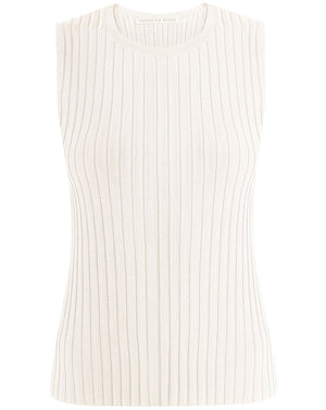 Aralia Sleeveless Shell - Off White