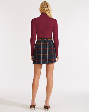 Nellie Turtleneck Pullover - Berry