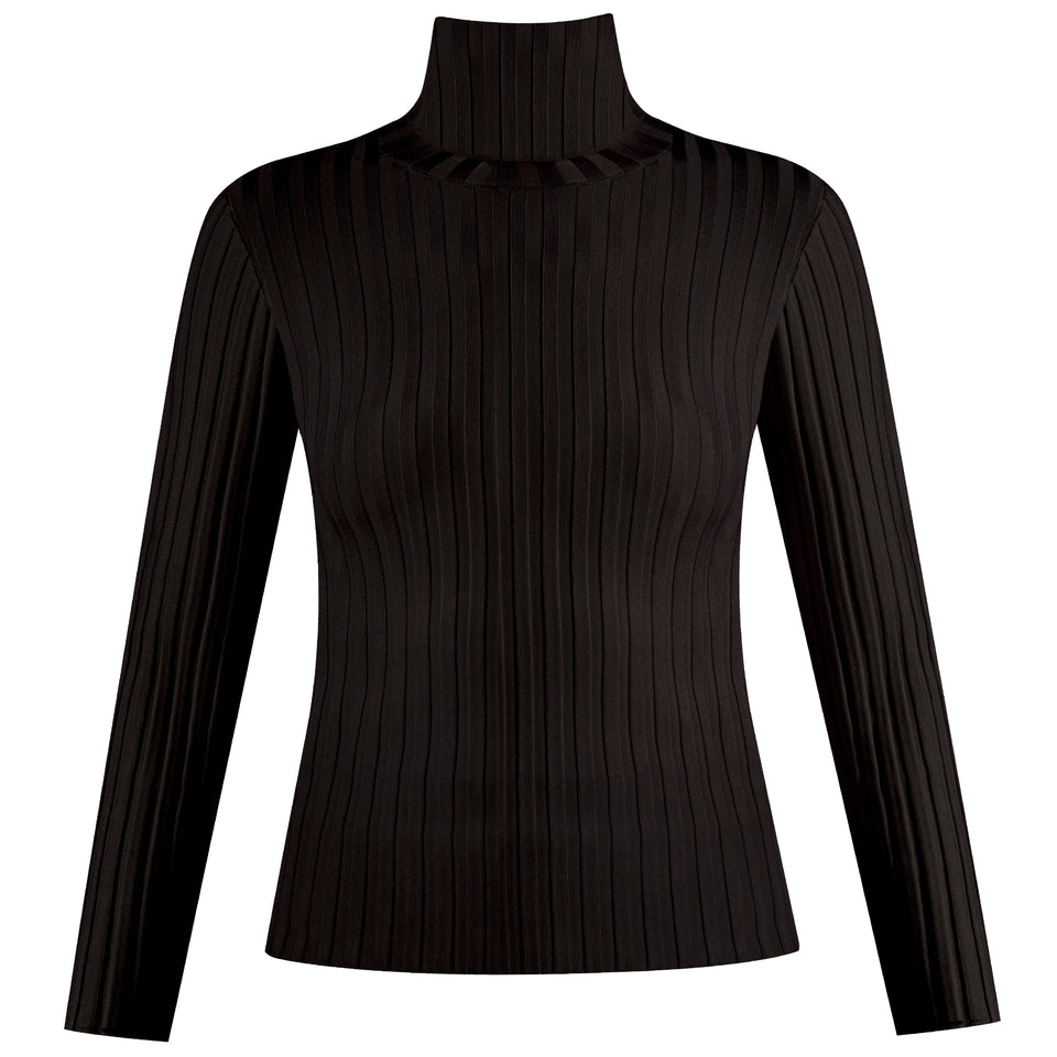 Nellie Turtleneck Pullover - Black