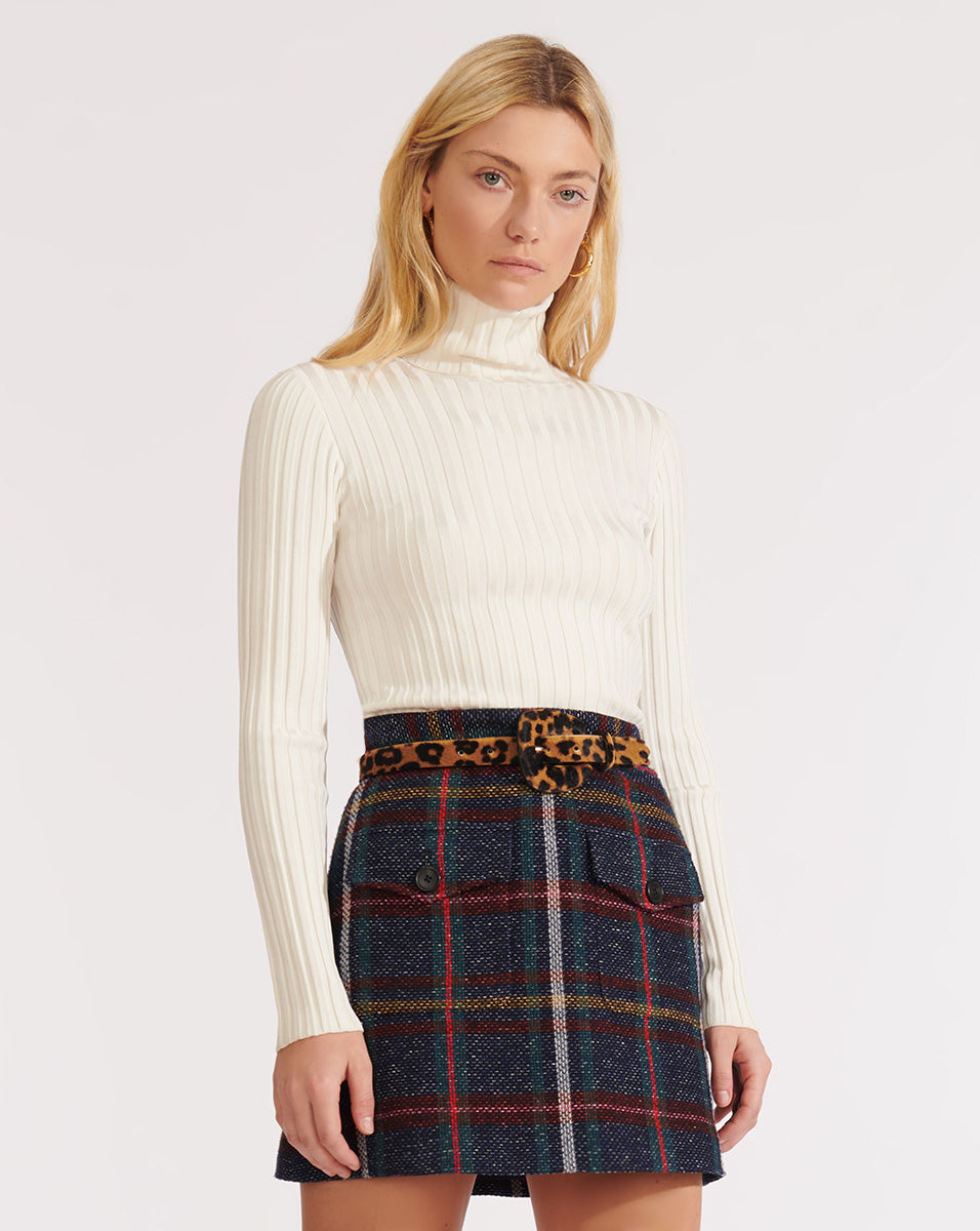 Nellie Turtleneck Pullover - Off White