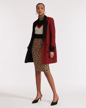 Senna Coat - Red Multi