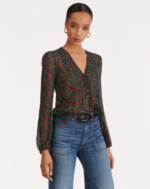 Lowell Blouse - Black Multi