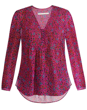 Lowell Blouse - Fuschia Multi