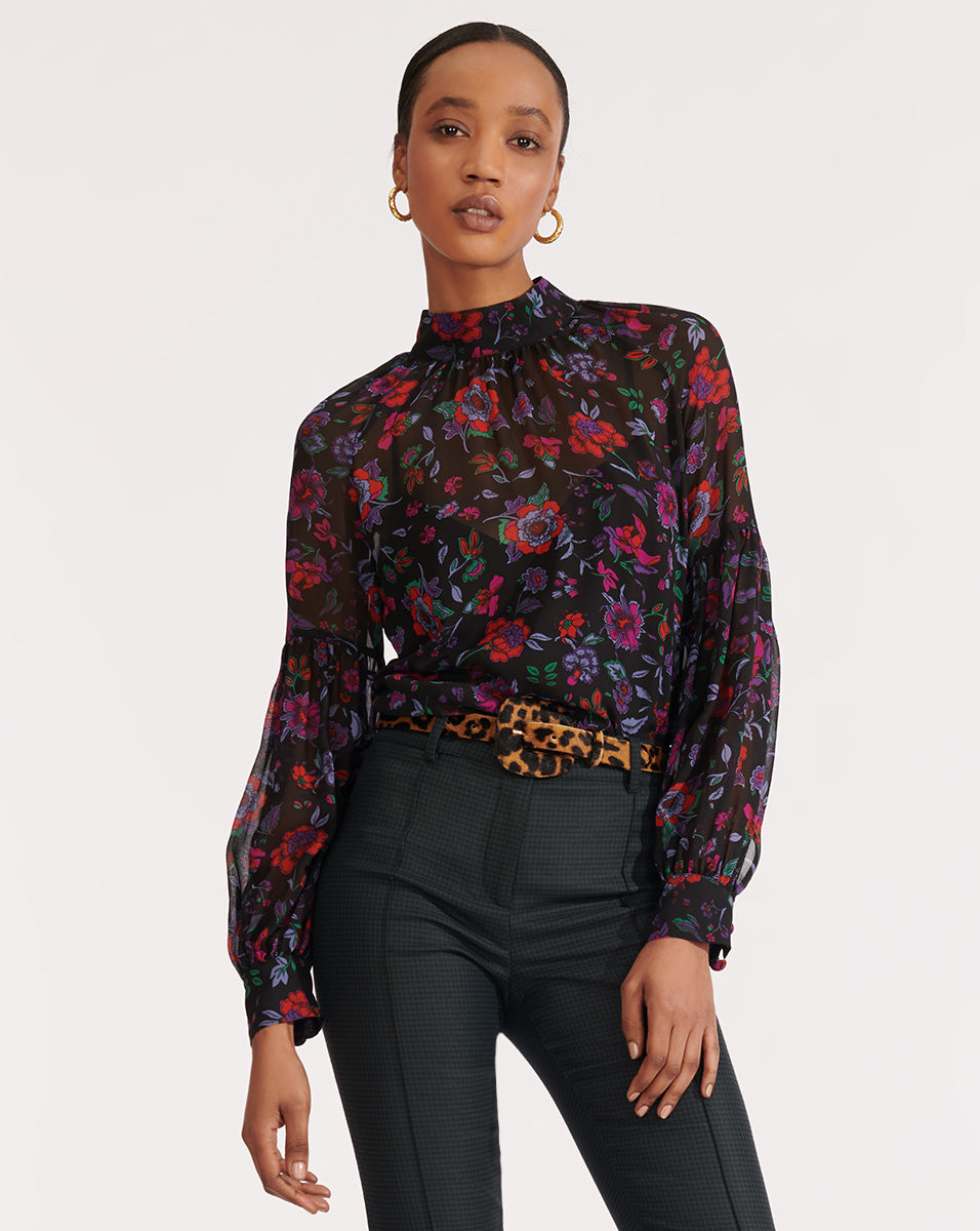 Cicely Top - Black Multi
