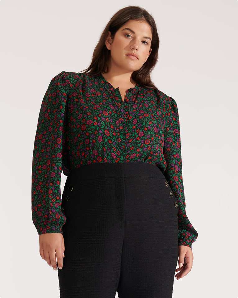 Ashlynn Blouse - Black Multi
