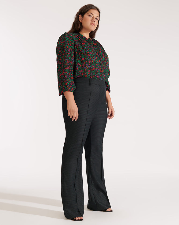 Hibiscus Pant - Green Multi