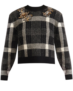 Deana Sweater - Black/white