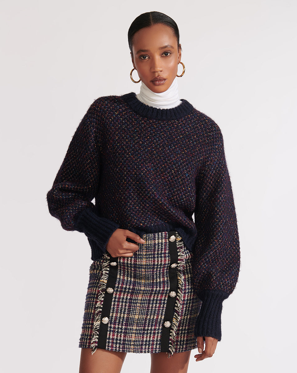 Beckia Sweater - Navy Multi
