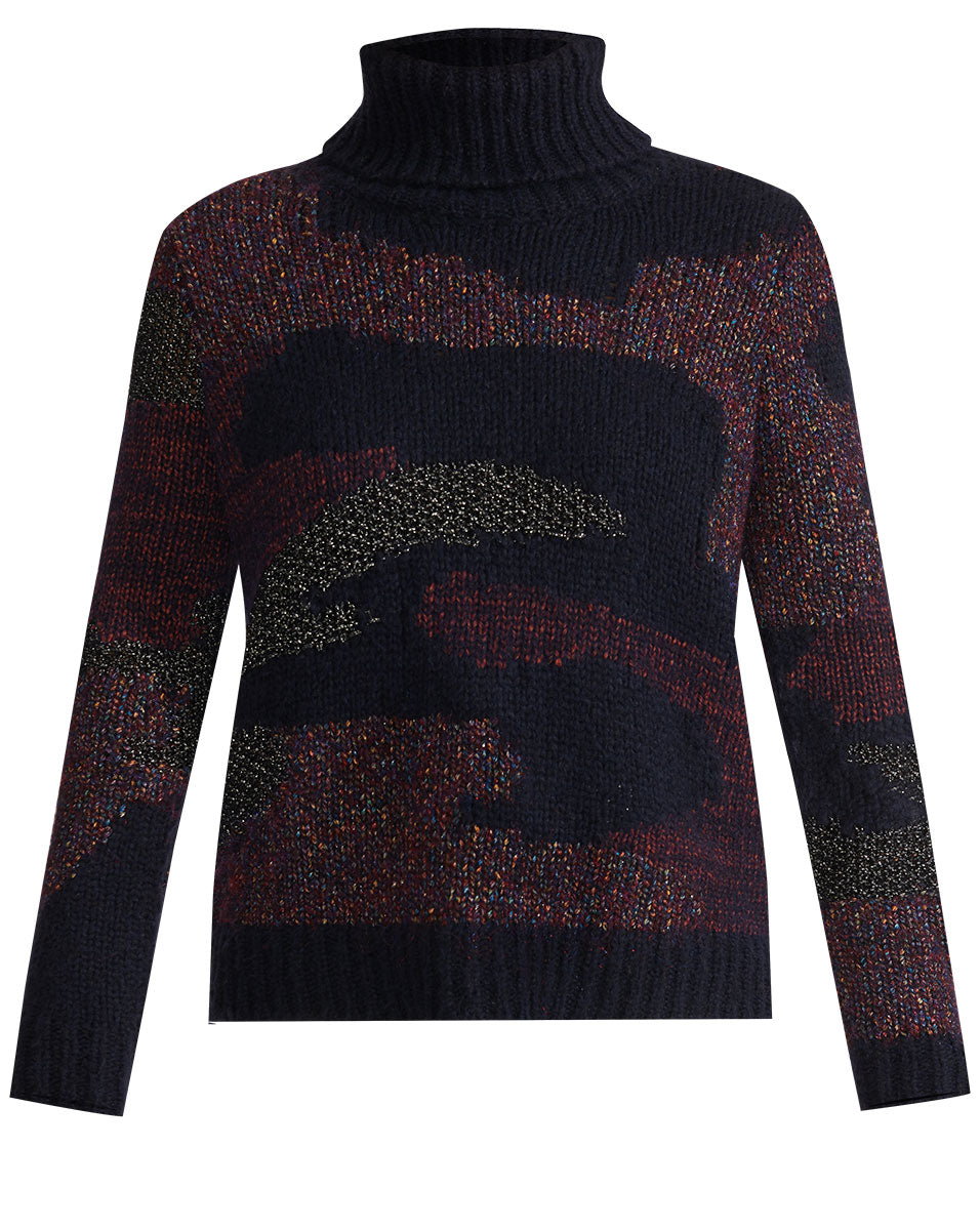 Naledi Intarsia Sweater - Navy Multi