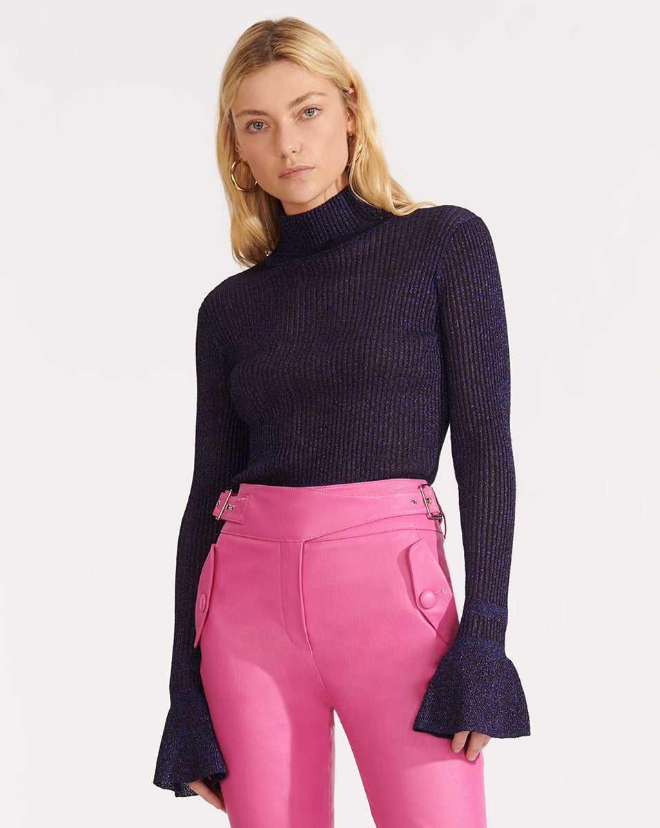 Lilia Turtleneck Pullover - Purple