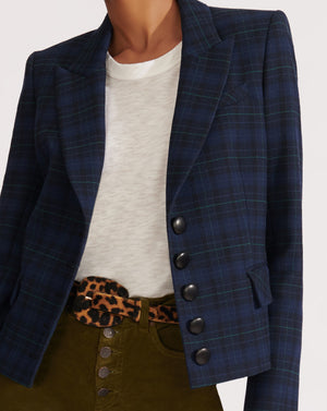 Tavia Dickey Jacket - Navy Multi