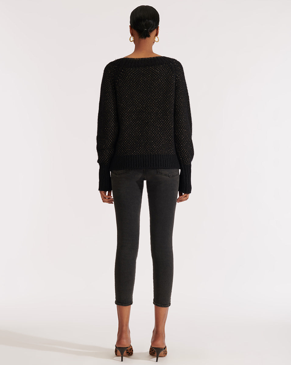 Mirnie V-Neck Sweater - Black