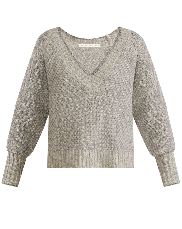 Mirnie V-Neck Sweater - Grey