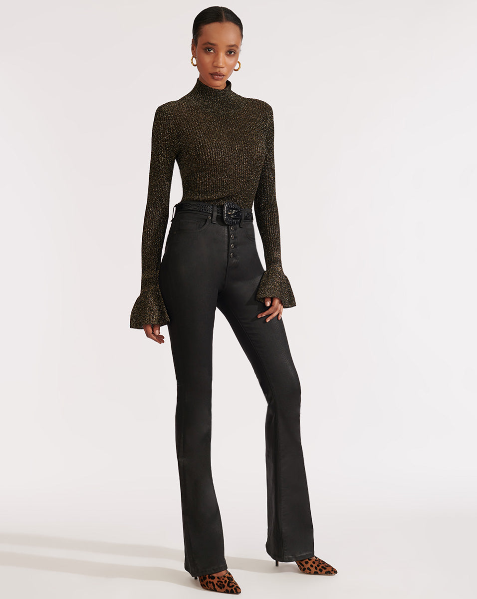 Lilia Turtleneck Pullover - Black
