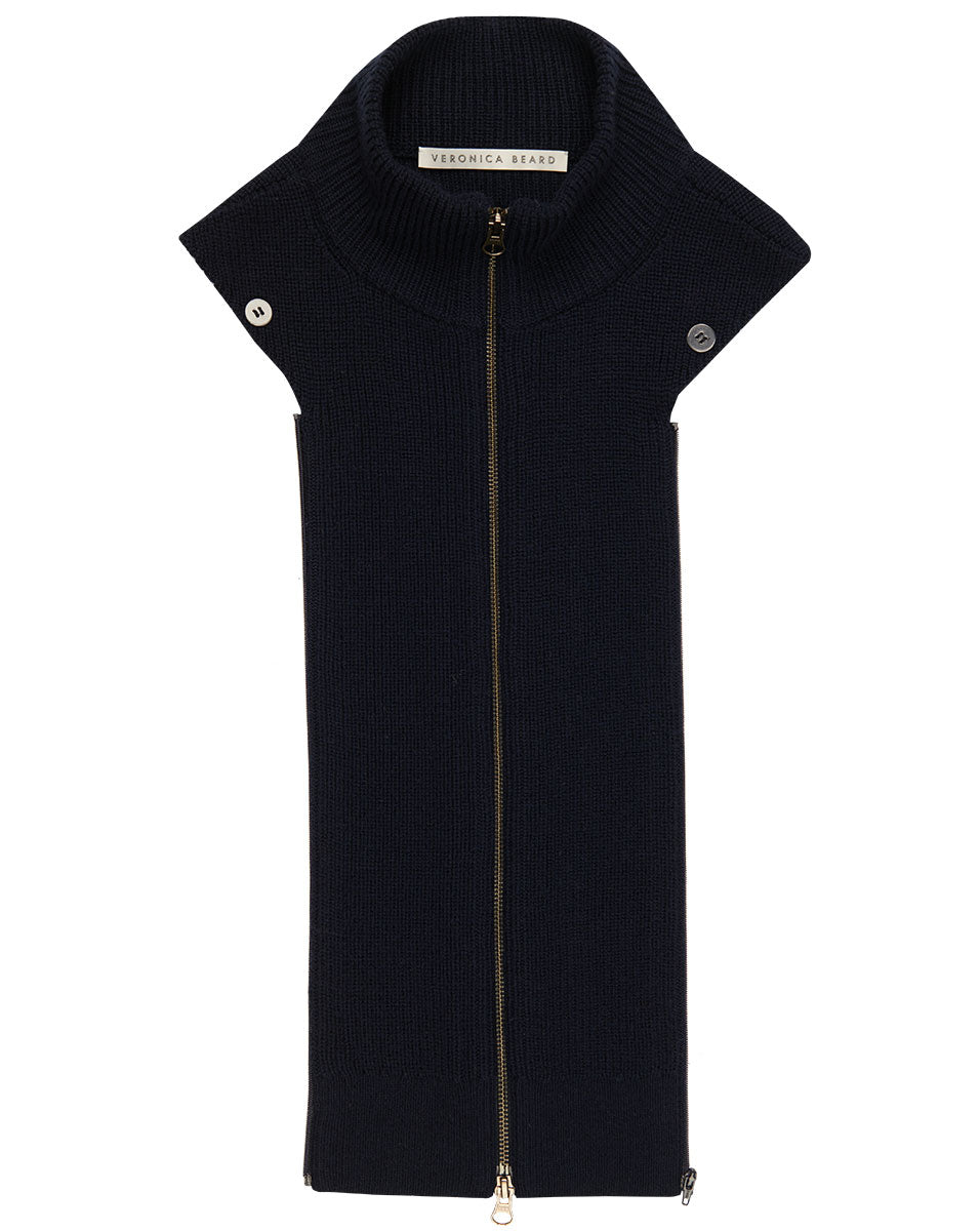 Davey Turtleneck Dickey - Navy