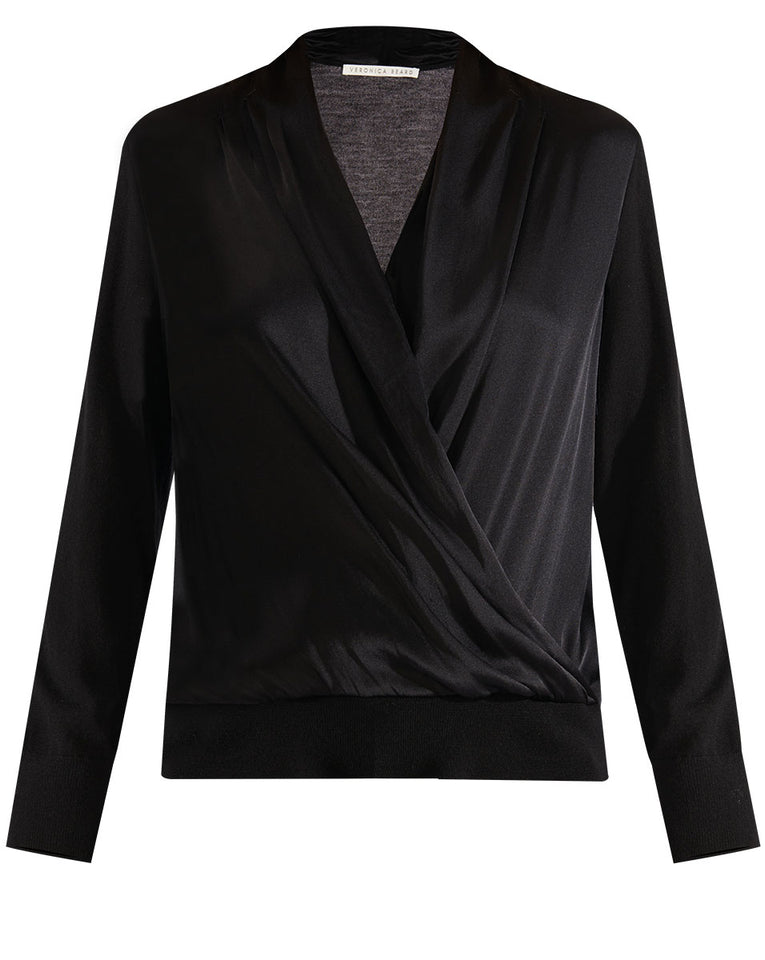 Ingrid Mixed Media Top - Black