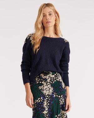 Valerie Sweater - Navy