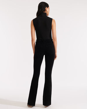 Beverly High-Rise Skinny Flare - Black