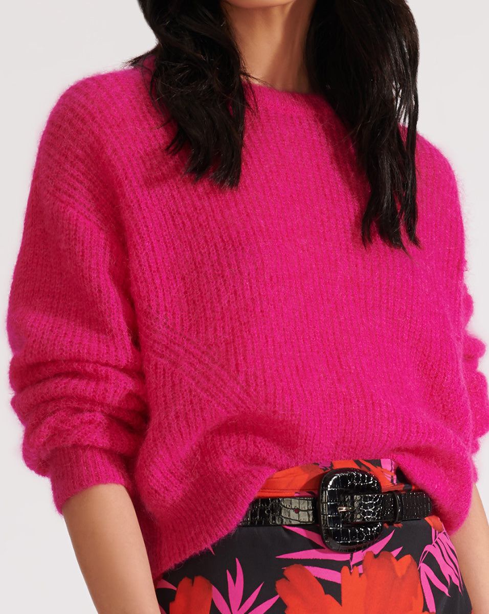 Melinda Crew Neck Sweater - Pink