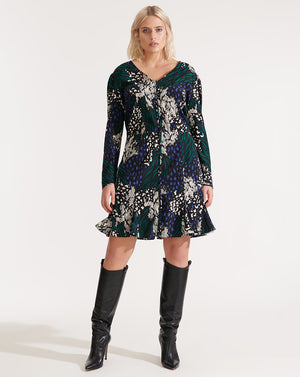 Riggins Dress - Black Multi
